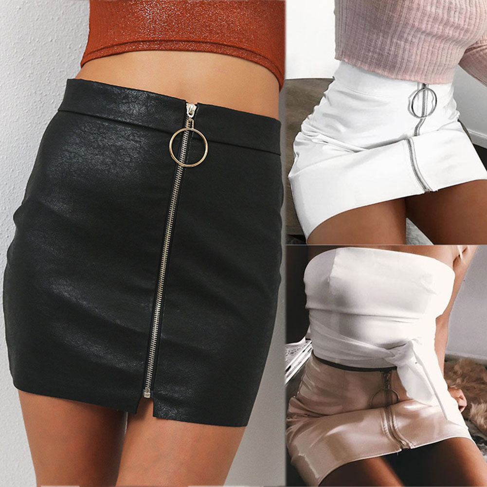 Black Wetlook Skirt Coquette D915