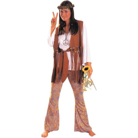 Morris Costumes Adult Womens Retro 1960S Hippie Love Costume White 12, Style AA204 for $<!---->