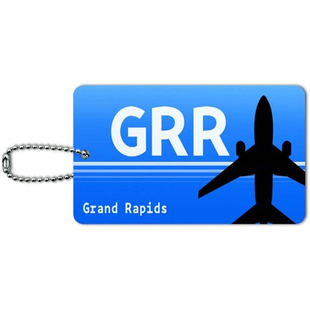 Grand Rapids MI (GRR) Airport Code ID Tag Luggage Card for Suitcase or Carry-On - Party City Grand Rapids Mi