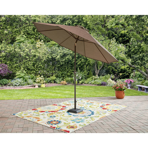 Mainstays Wesley Creek 9' Umbrella with Tilt, 9 ft.