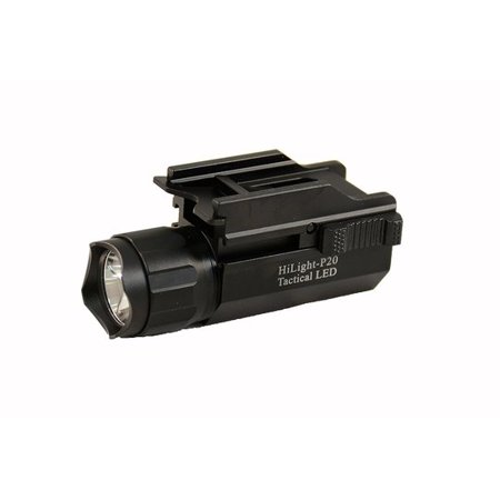 HiLight P20 Pistol Flashlight 2017 Edition Max 500 Lumen Dual Switch Light Quick Release /w Strobe