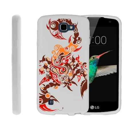LG K4, LG Rebel LTE, LG Spree, LG Optimus Zone 3, Flexible Case [FLEX FORCE] Slim Durable TPU Sleek Bumper with Unique Designs - Scorpion
