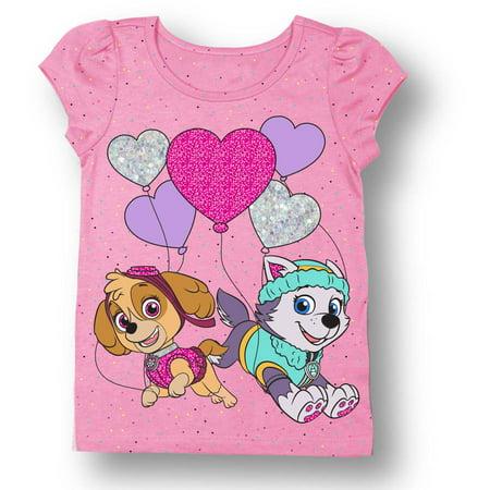 7525d5e76d8bf PAW Patrol - Toddler Girl Skye & Everest Short Sleeve T-Shirt - Walmart.com