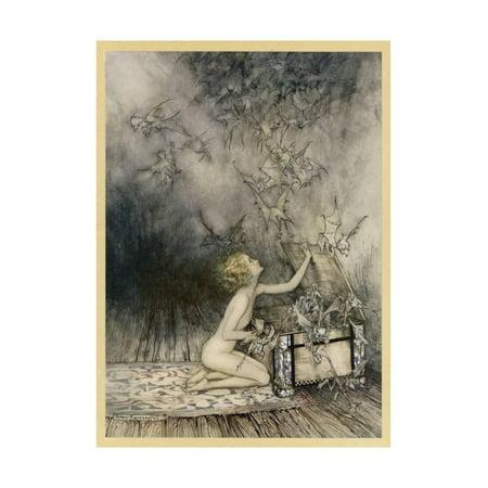 Pandora Art (Pandora and Her Box Print Wall Art By Arthur Rackham )