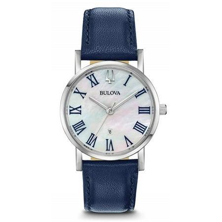 Bulova Women's Classic Slim-Profile Leather Watch 96M146