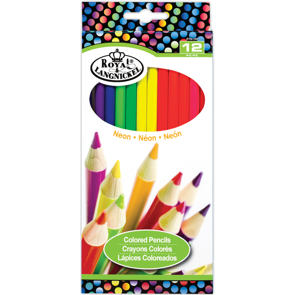 Neon Colored Pencils, 12pk