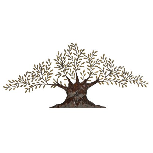 Decmode metal tree wall decor multi color for Al ahram aluminium decoration