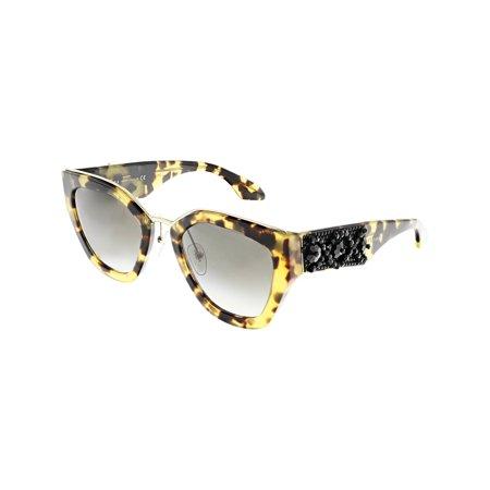 Prada Women's Gradient Minimal Baroque PR10TS-7S00A7-52 Brown Cat Eye Sunglasses - image 3 of 3