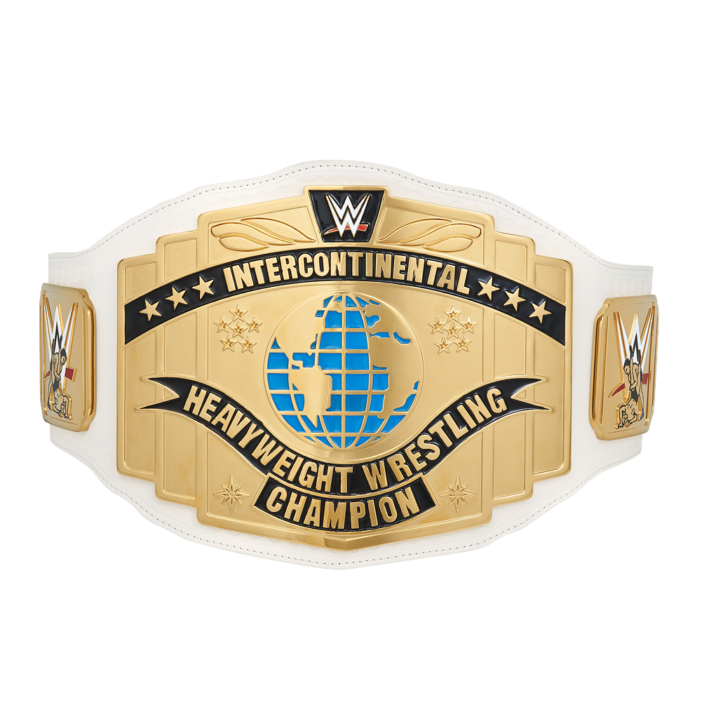 Official Wwe Authentic  White Intercontinental Championship Commemorative Title Belt (2014)