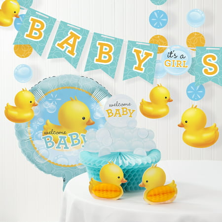 Bubble Bath Rubber Duck Baby Shower Decorations Kit - Easy Baby Shower Decorations
