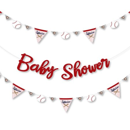 Batter Up - Baseball - Baby Shower Letter Banner Decoration - 36 Banner Cutouts and Baby Shower Banner Letters](Baseball Banner)