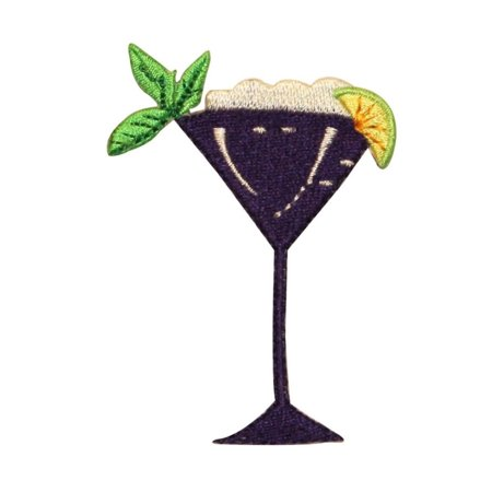 ID 1157 Cocktail With Mint Patch Mixed Drink Liquor Embroidered Iron On - 1 Liquor Cocktail