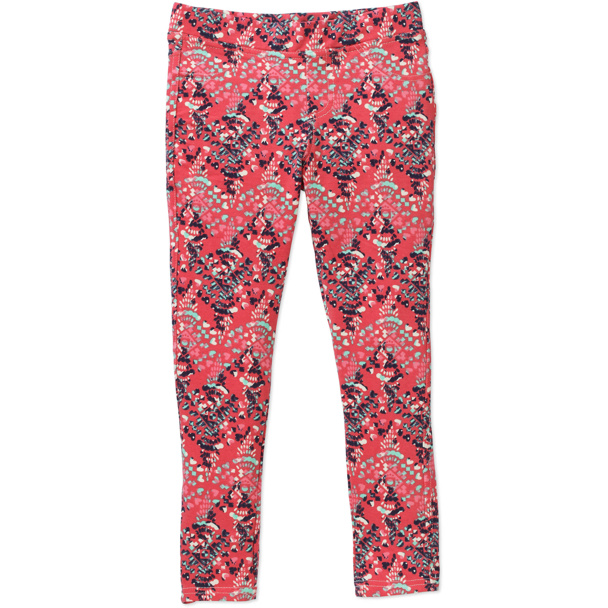 "Colette Lilly Girls' ""JEGGING CRAZE"" Knit Bottoms with Mock Fly, Mock Front Pockets and Real Back Pockets"