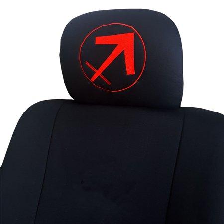 New Interchangeable Embroidery Zodiac Symbles Logo Car