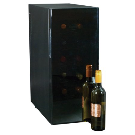 Koolatron 12 bottle Slim Electric Wine Cooler Single Zone WC12, black
