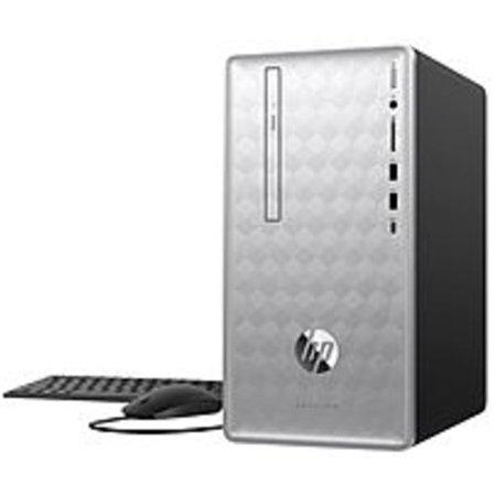 Refurbished HP Pavilion 3LB80AA 590-p0076 Desktop PC - AMD Ryzen 5 2400G 3.6 GHz Quad-Core Processor - 8 GB DDR4 SDRAM - 1 TB Hard Drive - Windows 10 Home 64-bit -