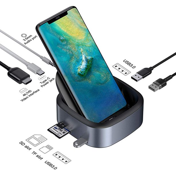 Samsung Dex Station Baseus Samsung Docking Station Usb C To 4k Hdmi Adapter Dex Station Desktop Experience For Samsung Galaxy S10 S9 S8 S10 S9 S8 Note 9 8 Huawei Mate 10 10 Pro 20 Pro P20 Pro