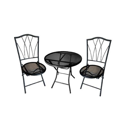 Courtyard Creations 17S5080LB Avalon Bistro Set, Steel Frame, Black, 3-Pc.