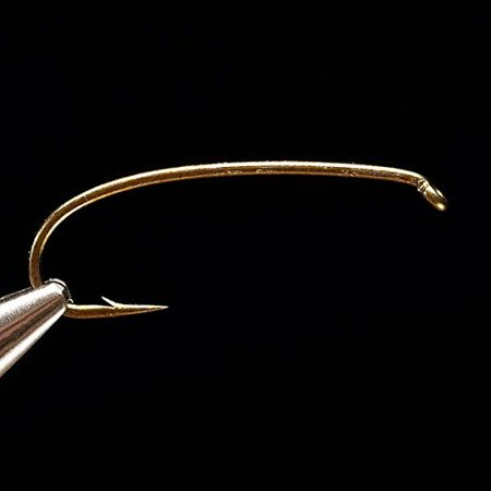 1760 2X-Heavy Curved Nymph Hook - 25 hooks - size 4 By Daiichi Ship from US