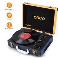 Ezcheer Vinyl Record Player Bluetooth Turntable with Stereo Speakers