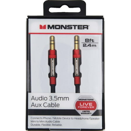 Monster® Auxiliary Stereo Audio Cable 8ft