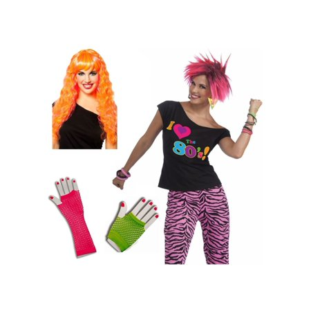 1980s Party Girl Woman Costume Set (1980 S Costumes)