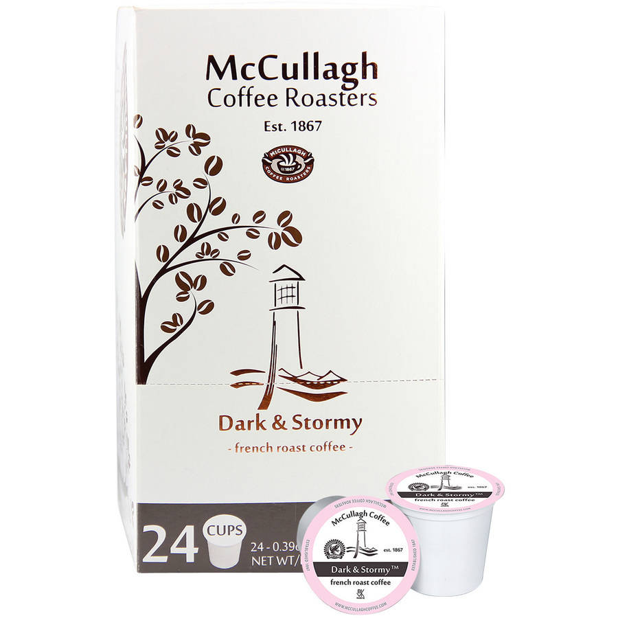 McCullagh Coffee Roasters Dark & Stormy French Roast Single Serve Coffee Cups, 24 count, (Pack of 4)