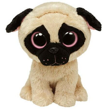 8325a17a47f TY Beanie Boos - PUGSLY the Pug Dog (Solid Eye Color) (Medium Size - 9  inch) - Walmart.com