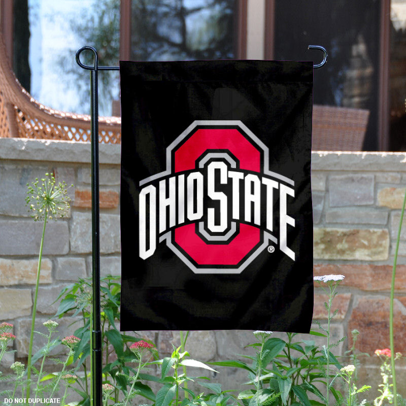 "Ohio State Buckeyes Black 13"" x 18"" College Garden Flag"