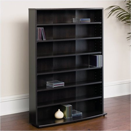Pemberly Row 46″ Multimedia Storage Rack in Cinnamon Cherry
