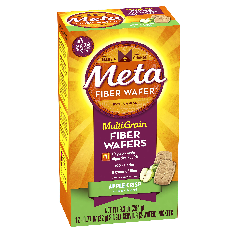 Ingredients in meta health bars - Meta Apple Crisp Multi Grain Fiber Wafers 0 77 Oz 12 Pack Walmart Com