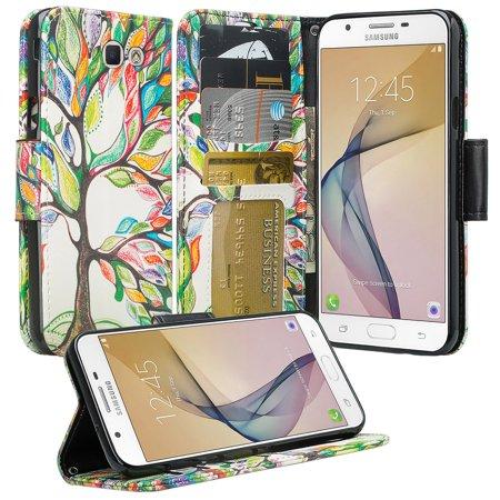 Samsung Galaxy J7V Case, Galaxy J7 Sky Pro, J7 Prime Case, J7 Perx Case, SOGA [Pocketbook Series] PU Leather Magnetic Flip Design Wallet Case for Galaxy J7 2017 / J7 V / J7 Sky Pro -