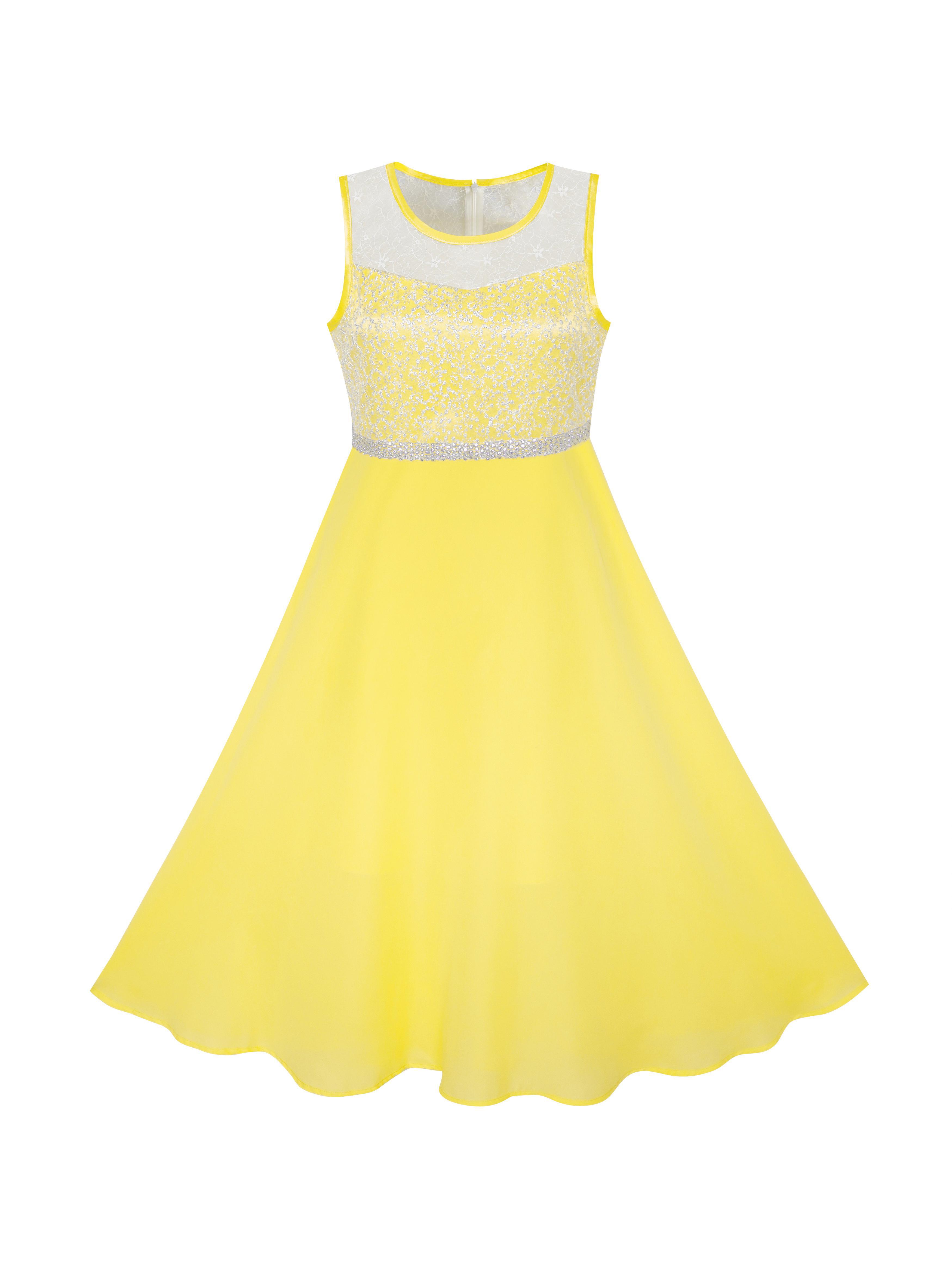 Girls Dress Rhinestone Chiffon Bridesmaid Dance Ball Maxi Gown 6