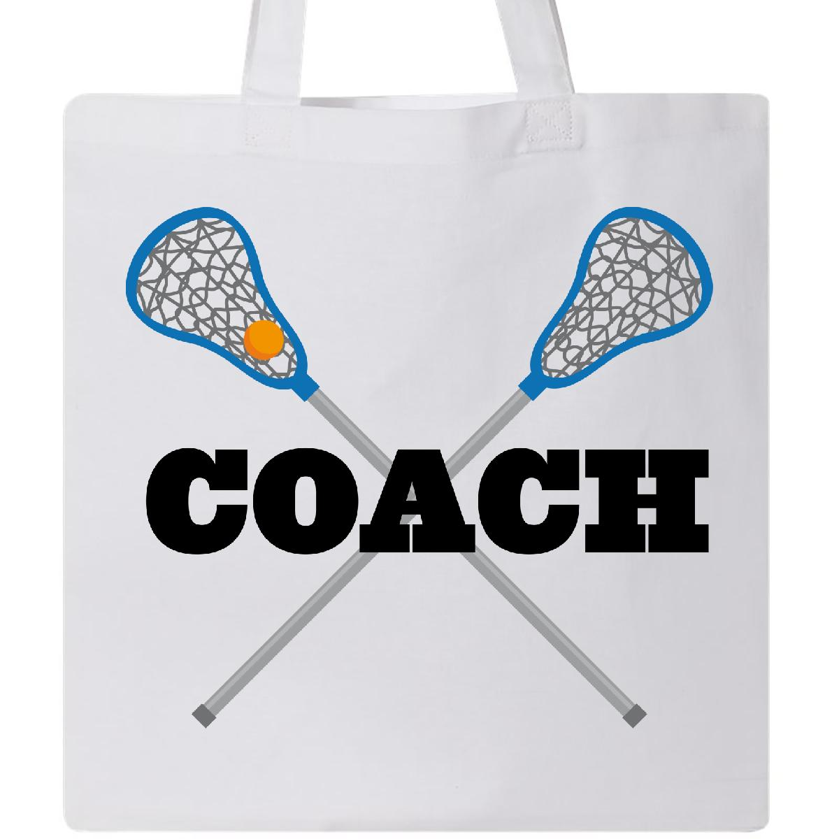 Inktastic Lacrosse Coach Tote Bag Sports Team Gift For Coaching Reusable Grocery by Inktastic