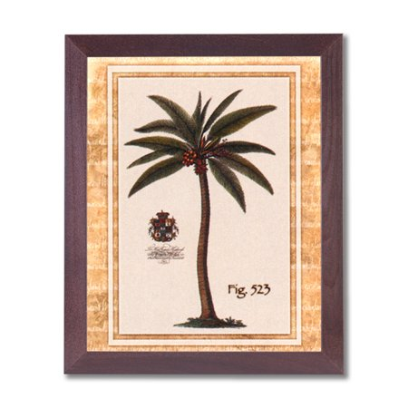Tropical Palm Tree Room Landscape Wall Picture Cherry Framed Art Print Art Com Tropical Print