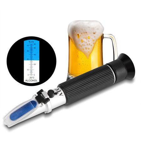 EECOO Alcohol Test Meter,Professional Handheld Alcohol 0-80% Test Refractometer Wine Tester Meter Measure Instrument,Alcohol Tester