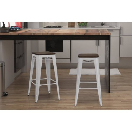 Dorel Home Products Fusion 30 Quot Metal Backless Bar Stool