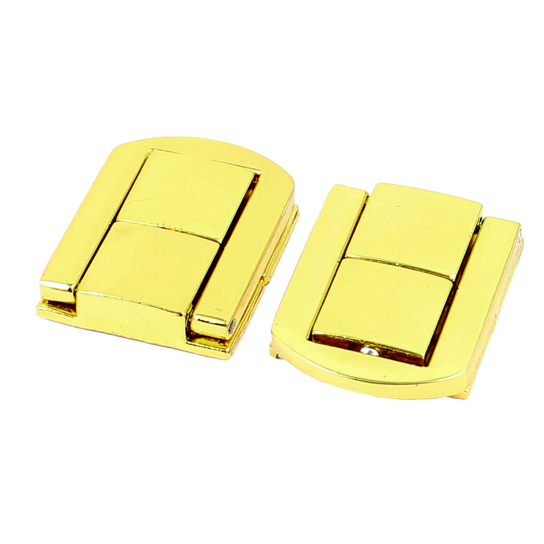 Unique Bargains Jewelry Boxes Latch Gift Case Latches Small Box Hardware Gold Tone 2PCS