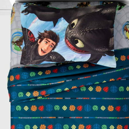Dragon Bed Set - How To Train Your Dragon 3 Twin Sheet Set