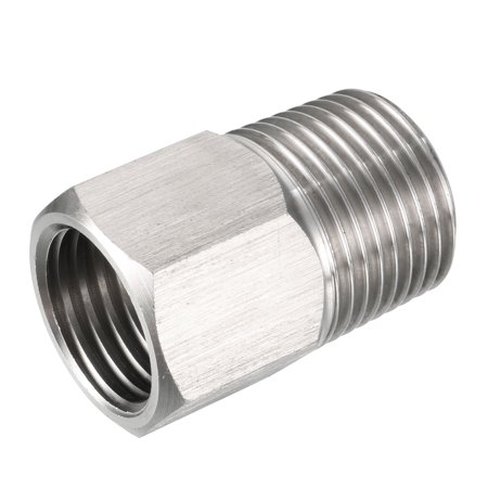 """Pressure Gauge Adapter, Pipe Fitting, 3/8"""" Male Pipe x M14 Female Pipe with O-ring - image 3 de 3"""