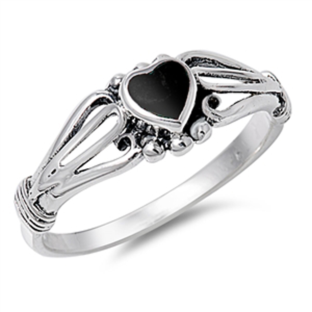s simulated black onyx promise ring sizes 4