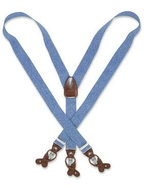 bb1871393e3 Product Image Men s Blue JEANS Design SUSPENDERS Y Shape Back Elastic  Button   Clip Convertible