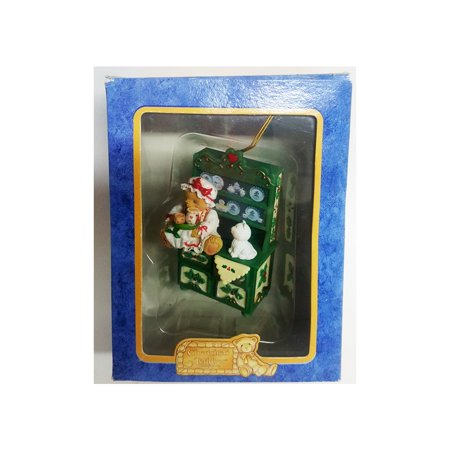 - Enesco 1998 Cherished Teddies Christmas Ornament 406481 Happy Holidays Bear