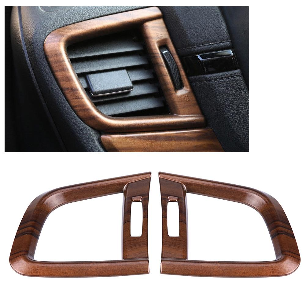 Peach Wood Grain Side A//C Outlet Trim 2pcs Front Side Air Conditioning Outlet Vent Cover Trim for Honda CRV 2017