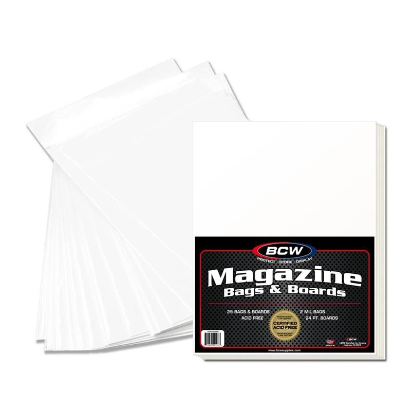 (25) BCW PREMADE MAGAZINE BAG AND BOARD