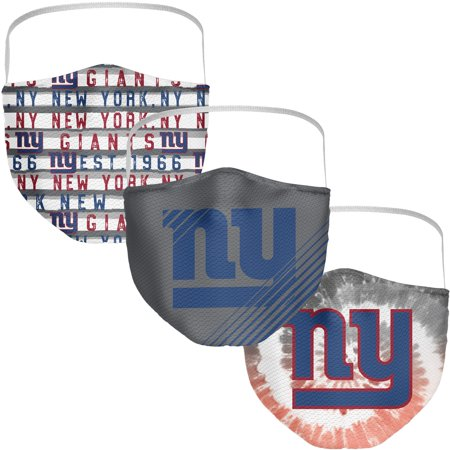 New York Giants Fanatics Branded Adult Face Covering 3-Pack