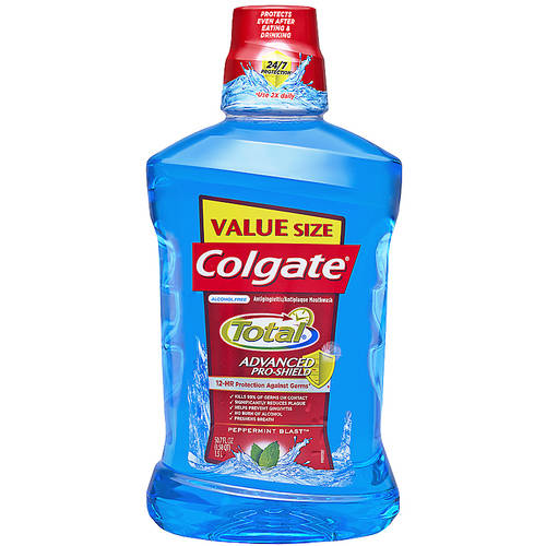 Colgate Total Advanced Pro-Shield Peppermint Blast Mouthwash, 50.7 fl oz