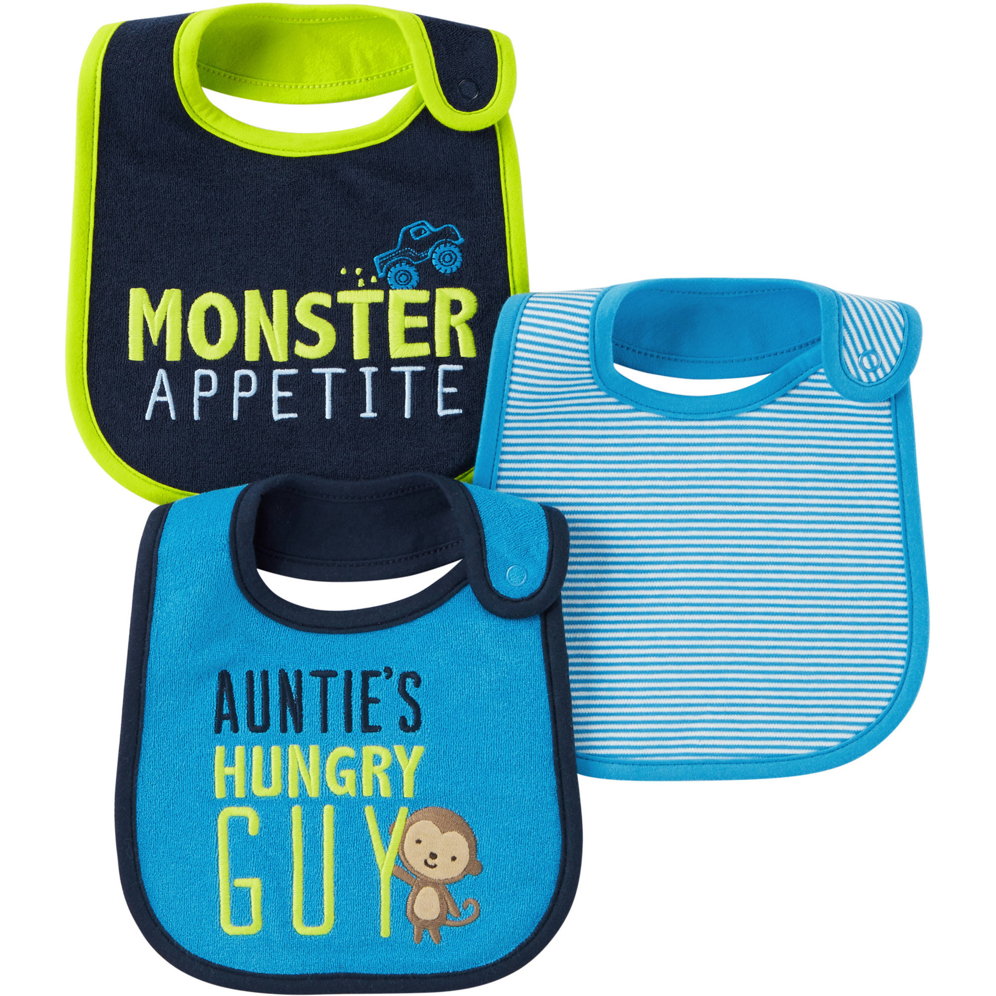 Child Of Mine by Carter's Newborn Baby Boy Bibs, 3-Pack