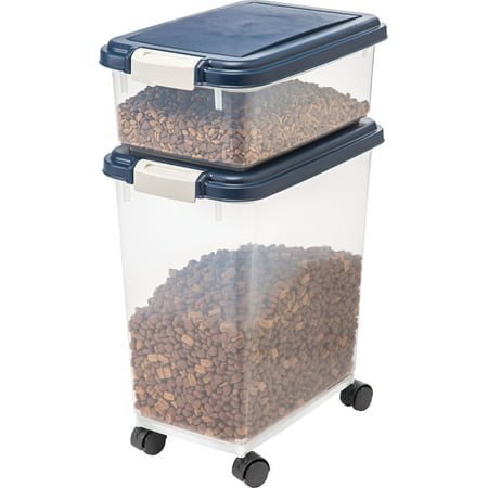 Iris Airtight Pet Food Treat Storage Container Combo Blue