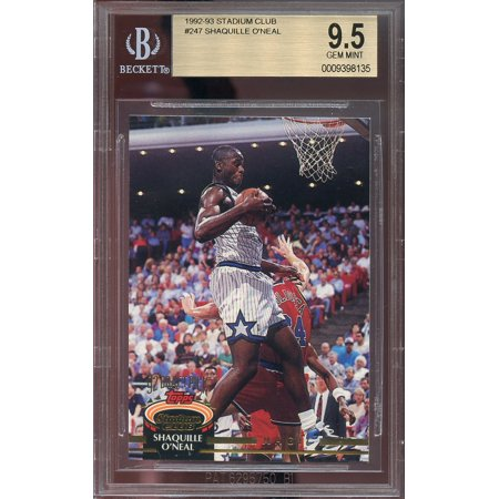 1992-93 stadium club #247 SHAQUILLE O'NEAL orlando magic rookie card BGS 9.5 for $<!---->